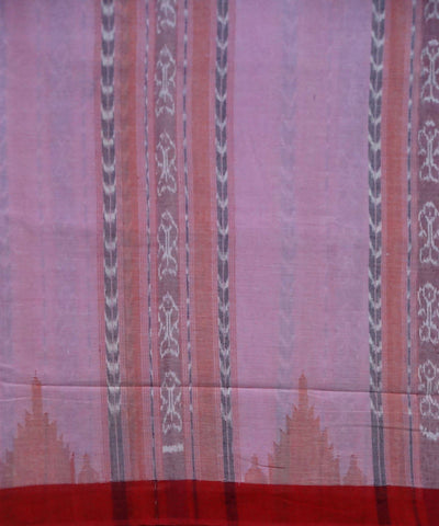 Charm Pink Cotton Sambalpuri Handloom Saree