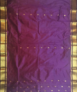 dark pink purple handloom mulbery silk saree