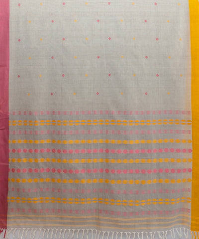 Grey begampuri handspun handloom cotton saree