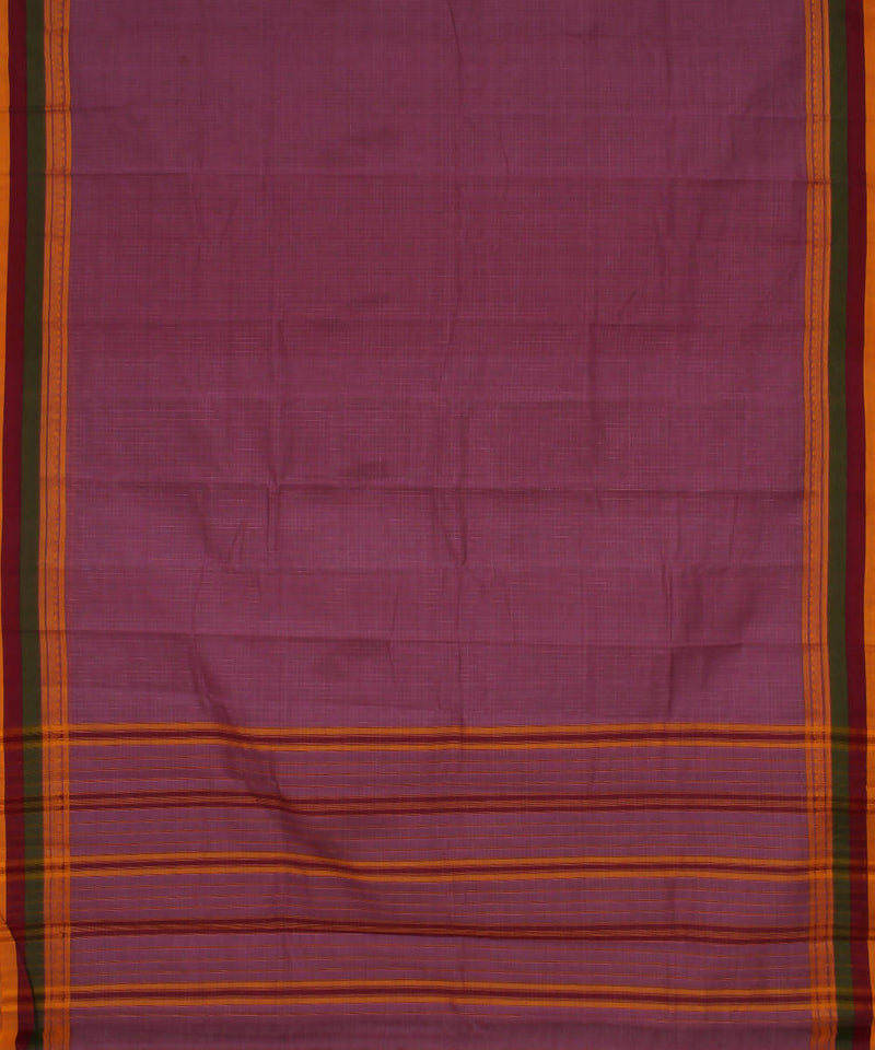 Handloom Lilac Narayanpet Cotton Saree