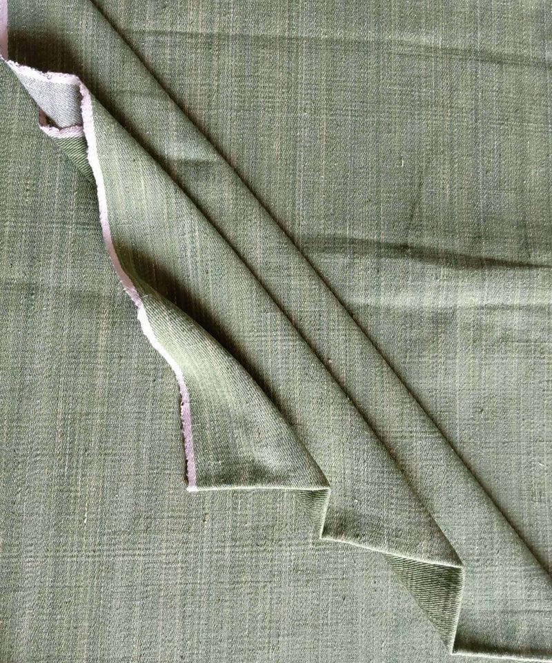 green white denim handspun handloom cotton trouser and jacket fabric
