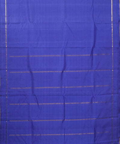 Handwoven Navy Blue Arni Silk Saree