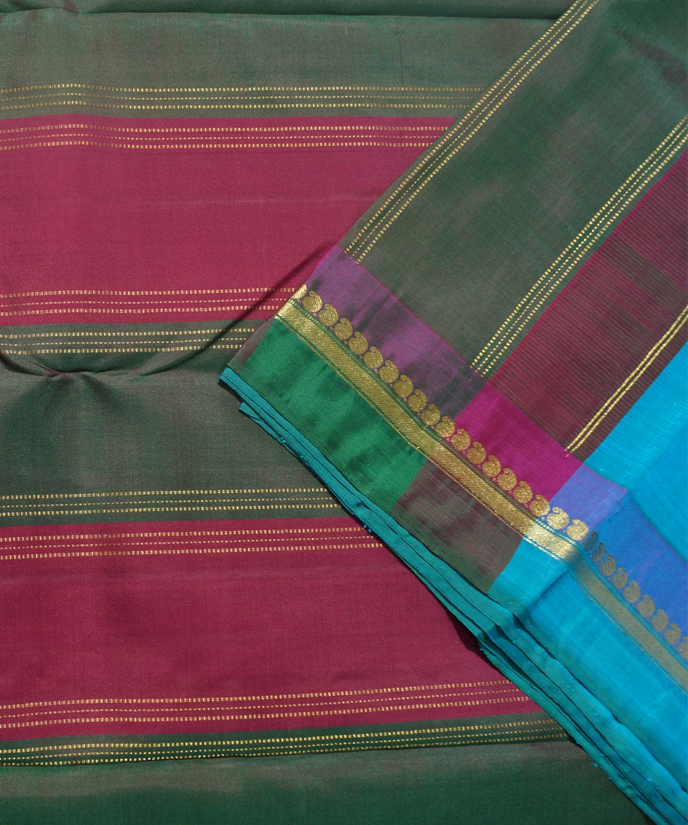 Sky Blue Handwoven Arni Silk Saree