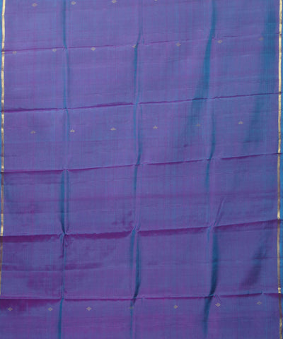 Blue Purple Handwoven Arni Silk Saree