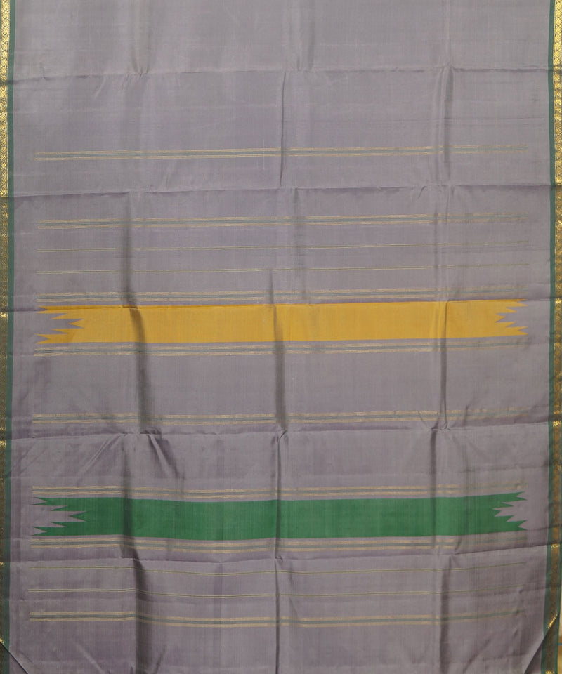 Grey Handwoven Arni Silk Saree
