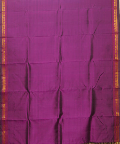 Purple Handwoven Arni Silk Saree