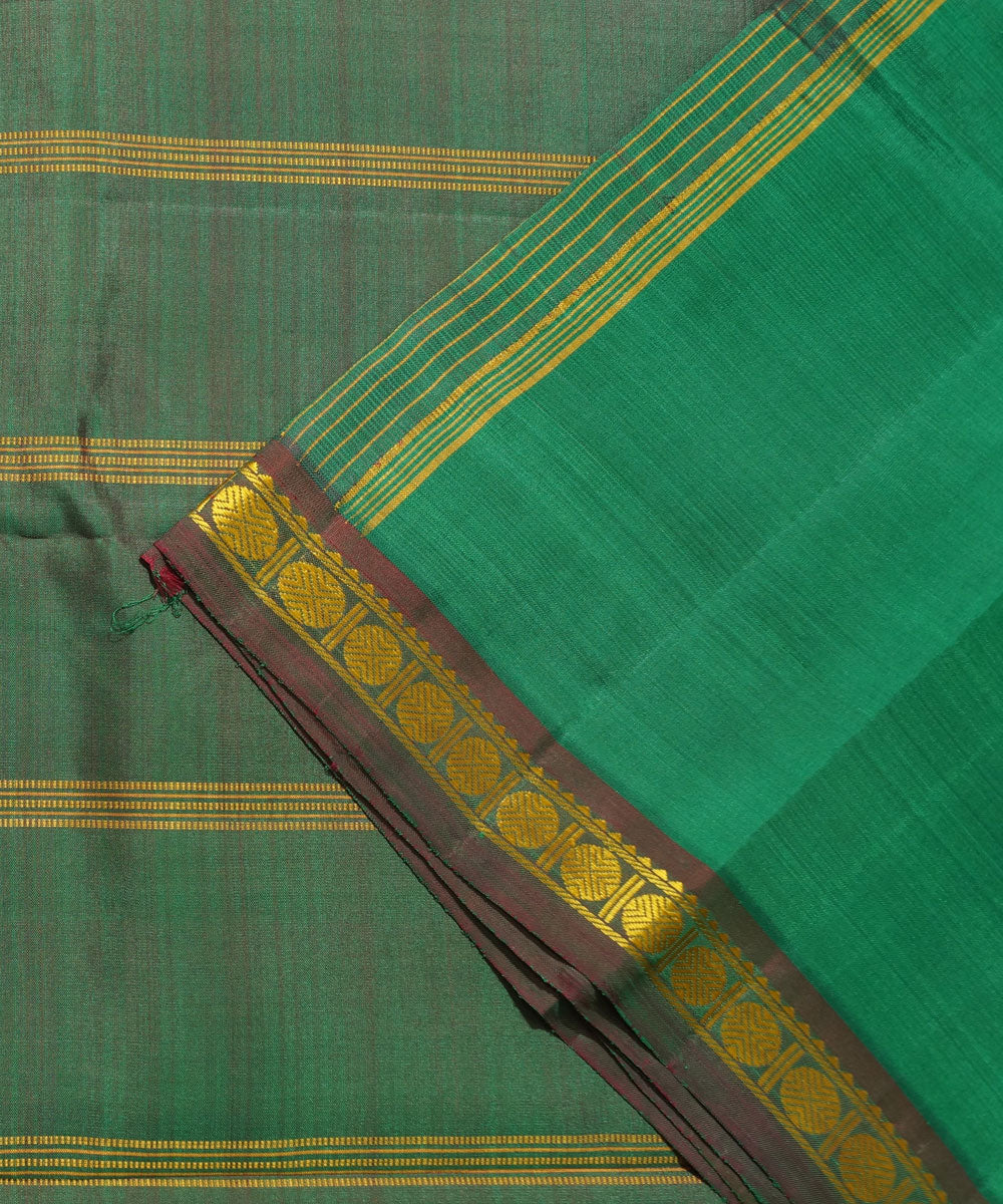Dark Green Handwoven Arni Silk Saree