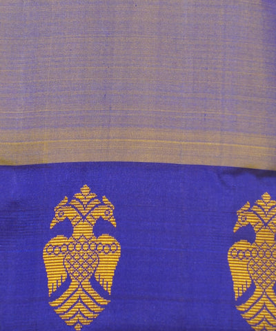 Purple Yellow Handwoven Arni Silk Saree