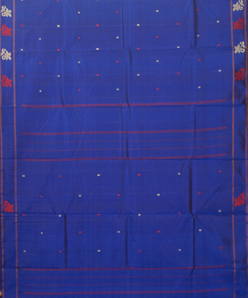 Navy Blue Handwoven Arni Silk Saree