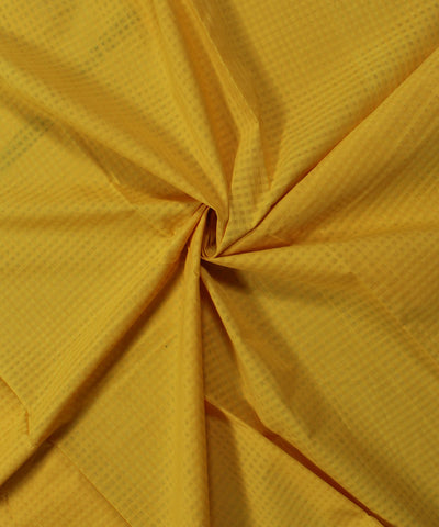 Handwoven Yellow Checks Mangalagiri Fabric