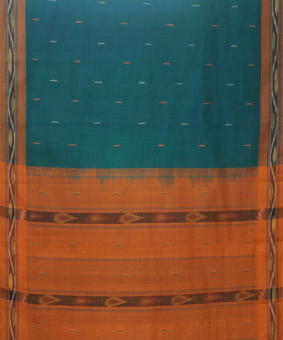 Tie Dye Green Handloom Kanchi Cotton Saree
