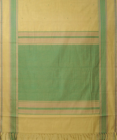 Yellow Handwoven Dindigul Cotton Saree