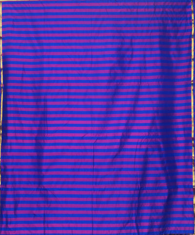 Navy Pink Stripe Handloom Arni Silk Saree