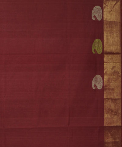 Dindigul Handwoven Maroon Cotton Saree