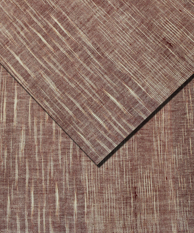 Khadi Nation Handwoven Brown and Off-White Cotton Khadi Fabric