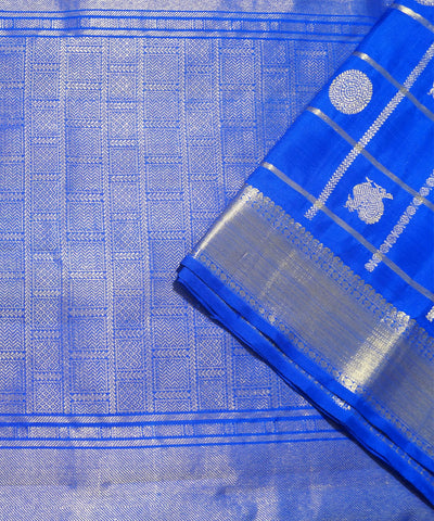 Navy Blue Arni Silk Handloom Saree