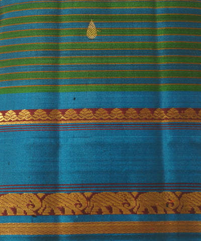 Kanchipuram Green Blue Handloom Silk Sarees