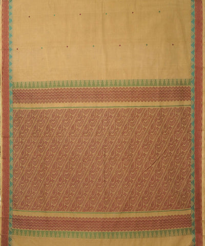 Dindigul Cream Handwoven Cotton Saree