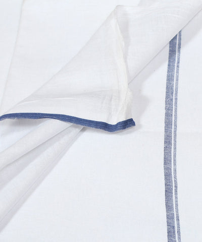 Khadi White Handwoven Cotton Dhoti