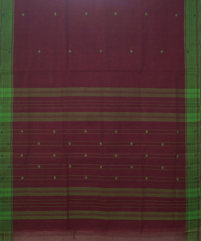 Magenta Handwoven Rasipuram Cotton Saree