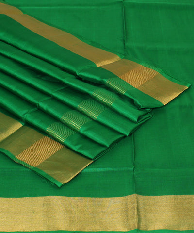 Handwoven Wine and Green Silk Saree