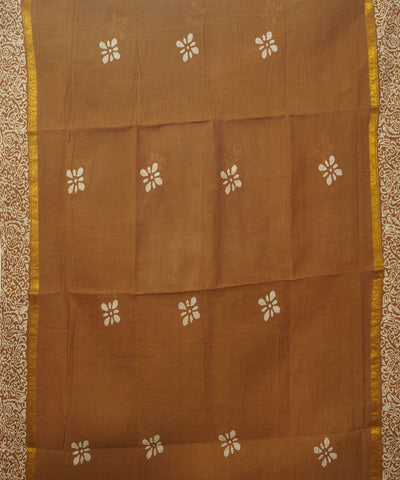 Brown Sungudi Cotton Madurai Saree