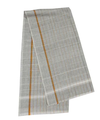 Handwoven Grey Checks Towel