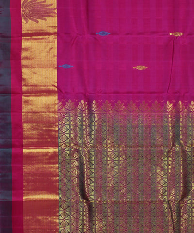 Handwoven Dark Pink Silk Saree