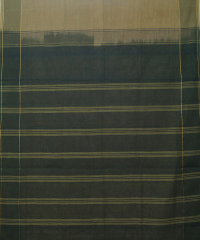 Cream Green Handwoven Rasipuram Cotton Saree