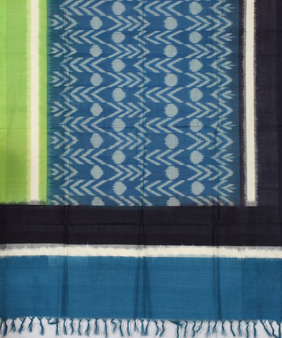 Pochampally BlueBlack Handloom Cotton Dupatta