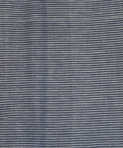Khadi Nation Handwoven Blue and White Striped Cotton Khadi Fabric