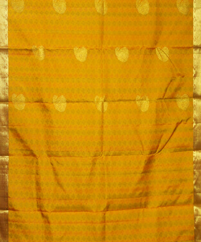 Golden Orange Handloom Arni Silk Saree