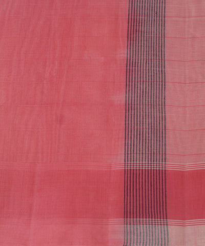 Peach Pink Handwoven Salem Cotton Saree