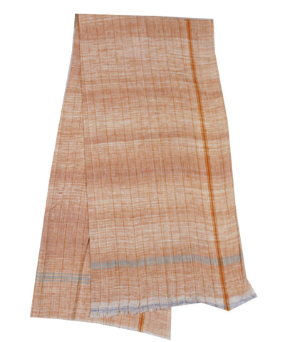 Handwoven Orange Khadi Cotton Towel