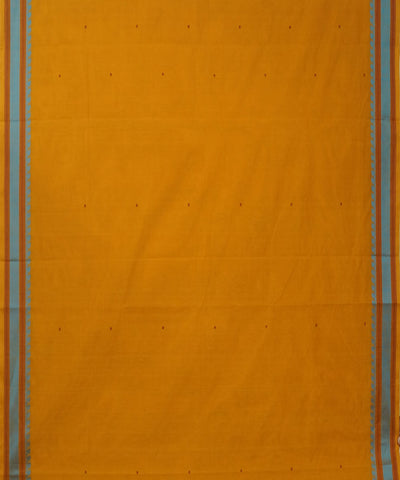Yellow Orange Handwoven Dindigul Cotton Saree
