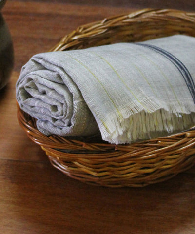 Handwoven Grey Checks Cotton Towel