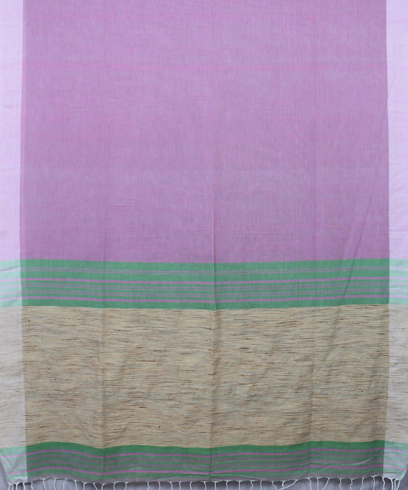 Lavender Bengal Handloom Cotton Saree