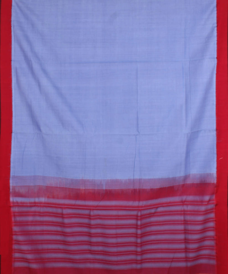 Steel Blue Handloom Mangalagiri Cotton Saree