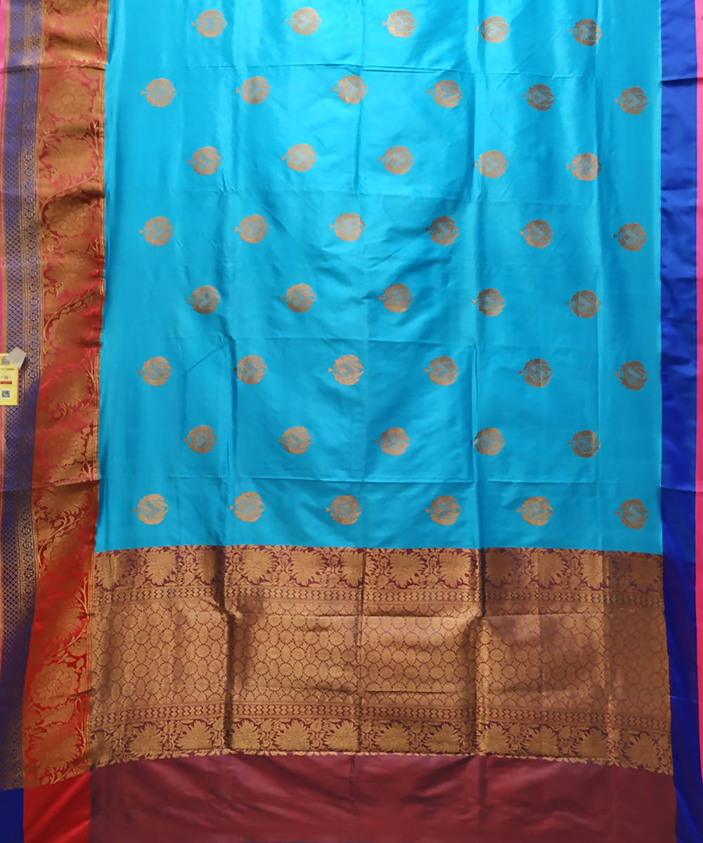 Banarasi light sky Blue Handloom Katan Silk Saree