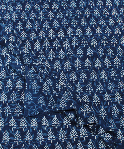 Dabu Handblock Indigo Printed Cotton Fabric
