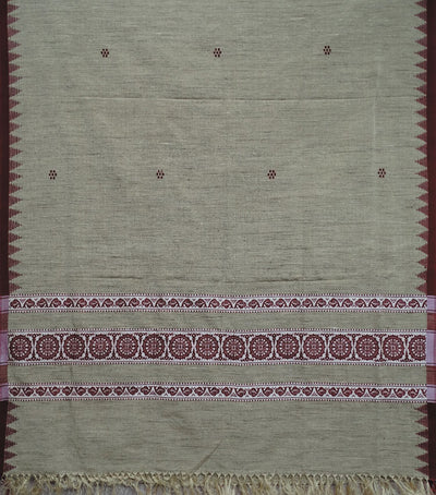 Exclusive Desert And Maroon Traditional Cotton with Discous Shawl