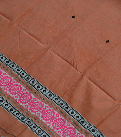 Exclusive Amaranth PinkBaby Pinkwhite And Black  Traditional Cotton with Woolen Shawl 588/W/239