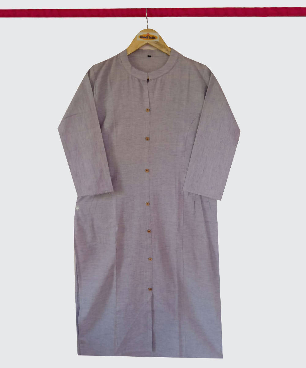 Light Purple Handspun Handwoven Cotton Kurti