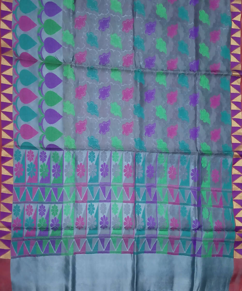 Multi color Handloom Banarasi Silk Saree