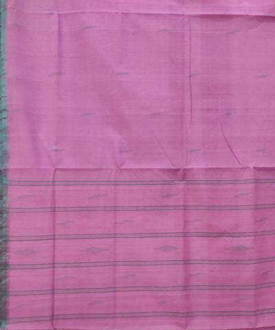 Lavender Pink Handwoven Cotton Butta Work Sarees