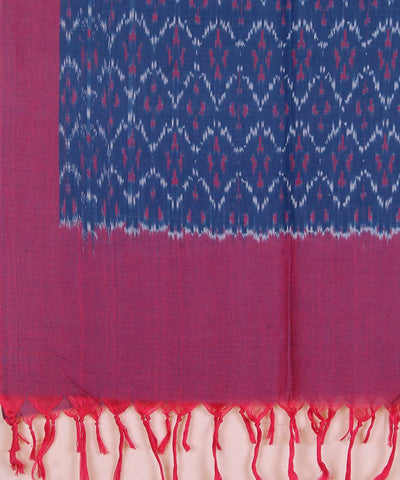 Handloom blue Ikkat cotton stole
