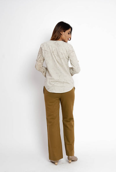 Solid Mustard Cotton Pant