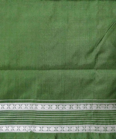 Burnt Umber Sambalpuri Ikkat Handloom silk Saree