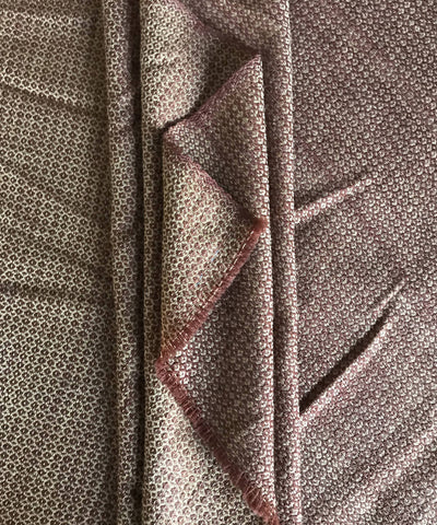 Brown Handwoven Wollen fabric
