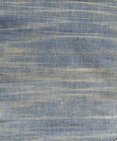 Cotton blue white yarn dyed handspun handwoven fabric (10m per quantity)